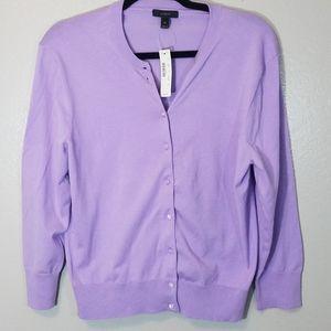 J. CREW lavendar cardigan NWT